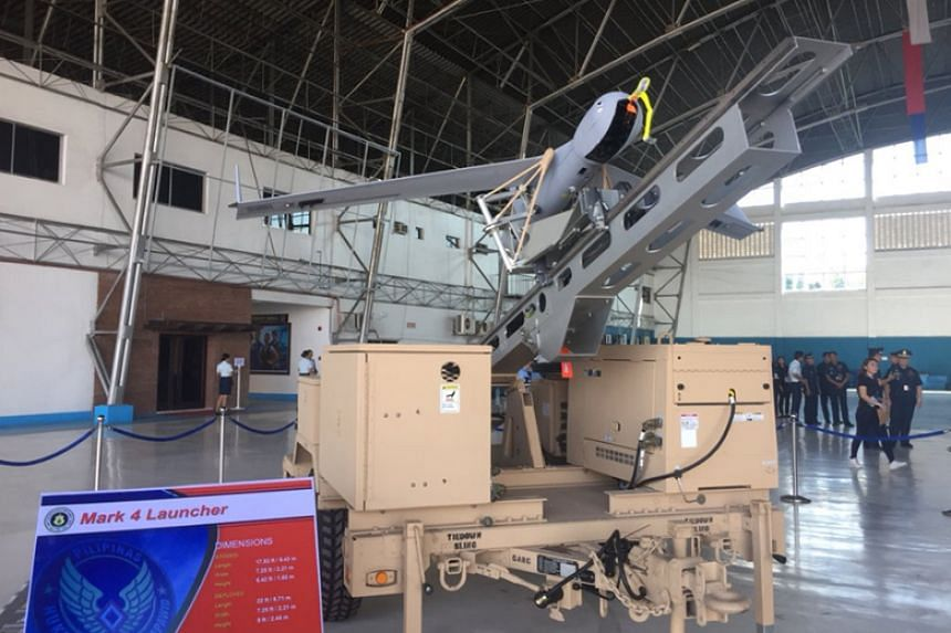 One of the six ScanEagle unmanned aerial vehicles turned over to the Philippine Air Force on March 13, 2018.