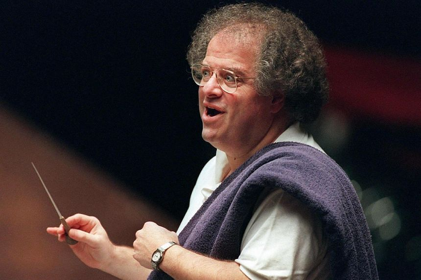 US conductor James Levine during a rehearsal in Frankfurt, Germany on May 13, 1996.