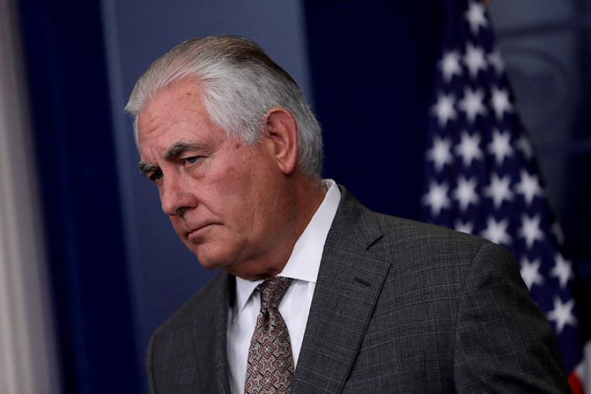 US Secretary of State Rex Tillerson answers questions during the daily briefing at the White House on Nov 20, 2017.