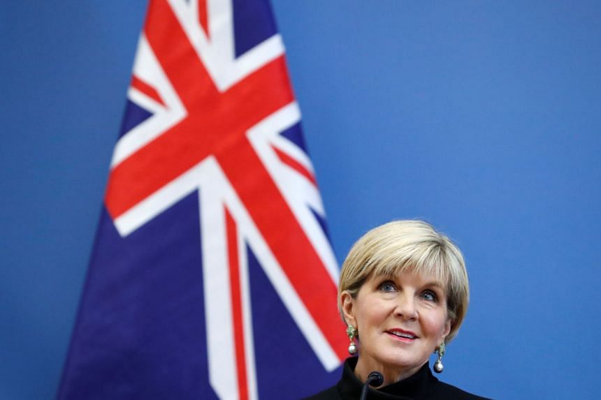 According to a leaked draft of her speech, Australian Foreign Minister Julie Bishop will argue that international law will stabilise a region strained by rival claims in the South China Sea.