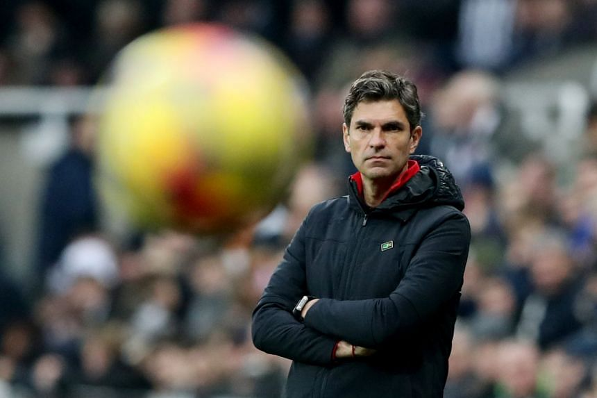 Southampton manager Mauricio Pellegrino looks dejected against Newcastle on March 10, 2018.