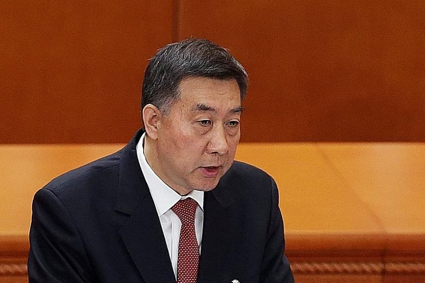 Mr Wang Yong presented the changes to the NPC. Steel factories in Hancheng, in China's Shaanxi province. Safeguarding the environment is a key goal for Beijing.