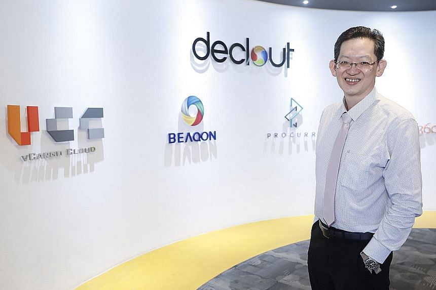 """Mr Desmond Tay, co-founder and chief executive of vCargo Cloud, said there is not much innovation in the trade and logistics industry. He added: """"We want to disrupt the industry, by building a platform."""""""