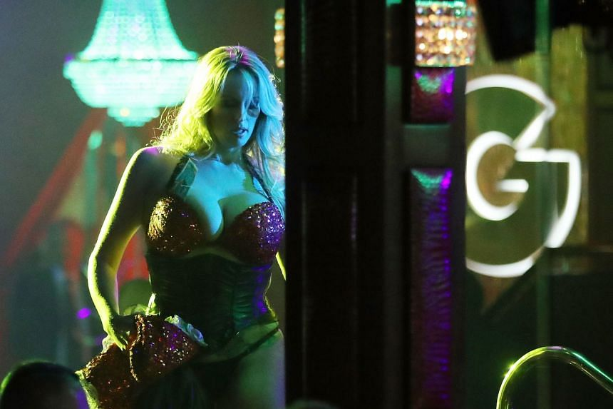 Stormy Daniels performing at a strip club in Florida in March 2018..