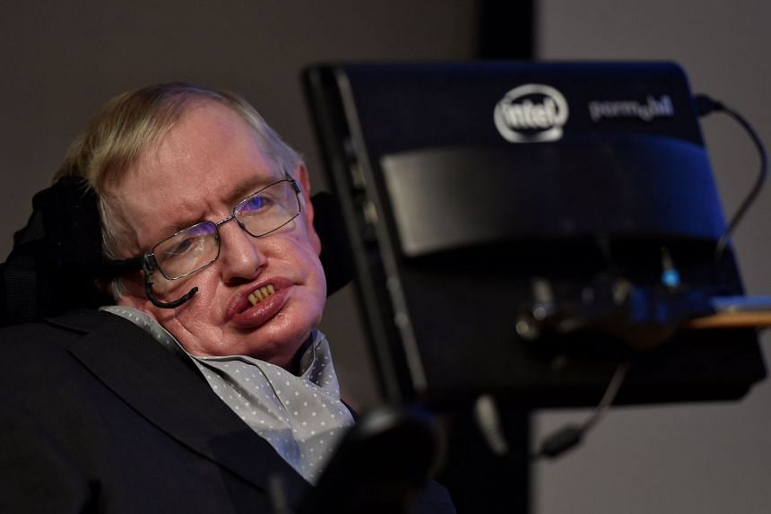 A file photo of Stephen Hawking at a launch event for a new award for science communication, called the Stephen Hawking Medal for Science Communication, on Dec 16, 2015.