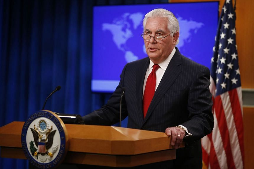 US Secretary of State Rex Tillerson speaking to the media at the US State Department after being fired by President Donald Trump on March 13, 2018.