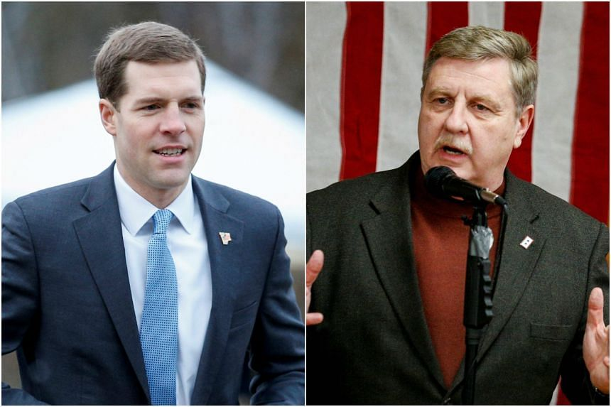 Democrat Conor Lamb (left) is in a dead heat with Republican state Representative Rick Saccone in a special election for an open seat in the US House of Representatives that Republicans have held since 2003.