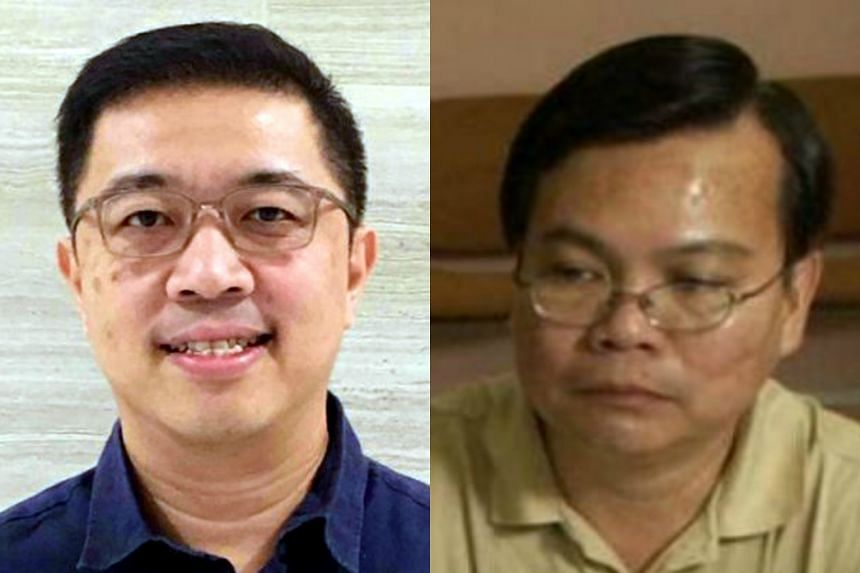 Mr Ang Boon Peng (left) took over as secretary and general manager of Ang Mo Kio Town Council. Former general manager and secretary Victor Wong was removed from duty in November 2016.