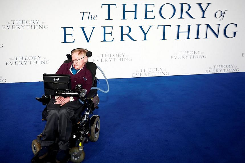 Stephen Hawking arriving at the UK premiere of the film The Theory Of Everything at a cinema in central London, Britain, on Dec 9, 2014.