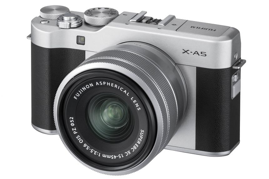 The X-A5 comes with the XC 15-45mm f/3.5-5.6 OIS PZ kit lens, Fujifilm's first electric-powered zoom lens for its X-mount cameras.