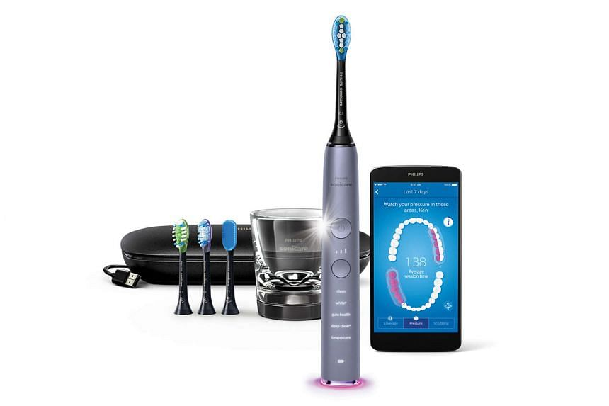 The Philips Sonicare DiamondClean Smart Sonic HX9924 comes with an app which tells you in real time which section of teeth you are brushing too little, too much, or have yet to brush.