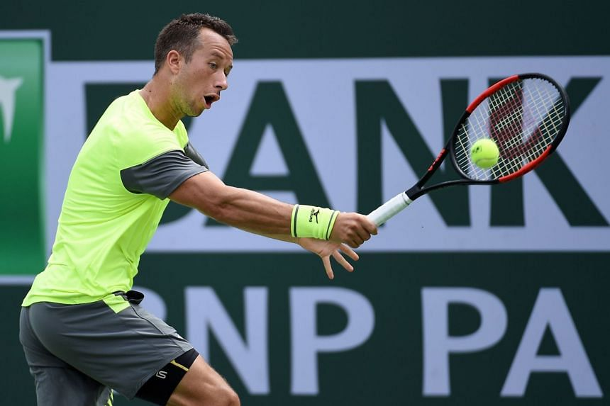 Cilic lost in straight sets to Germany's Philipp Kohlschreiber (above) 6-4, 6-4.