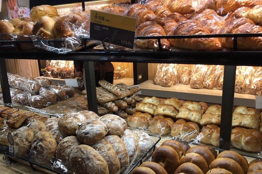 A display of breads at Wu Pao Chun bakery at Eslite Spectrum in Taipei. PHOTO: ST READER