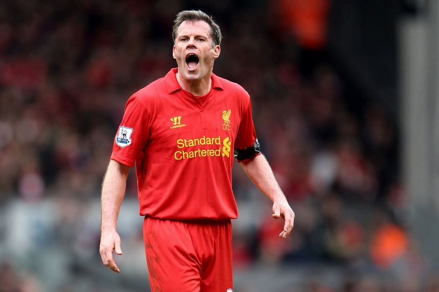 Former Liverpool defender Jamie Carragher was stood down from his usual Monday Night Football role this week after video emerged of him spitting towards a United fan from his car.