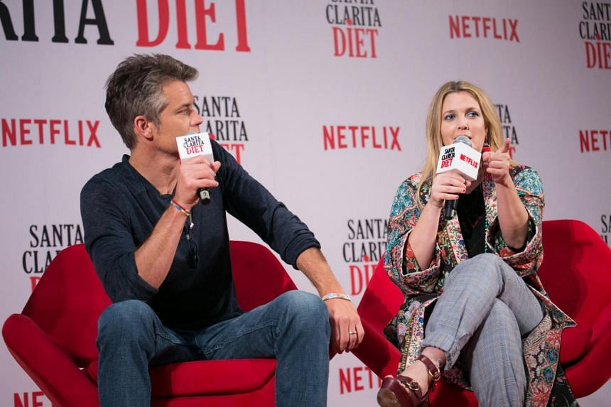 Santa Clarita Diet, Barrymore plays realtor Sheila, who has to deal with her sudden need to eat human flesh.