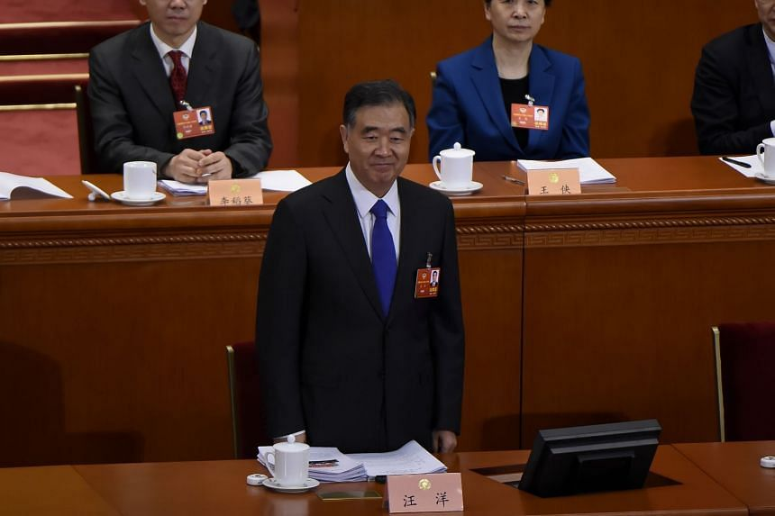 Vice-Premier Wang Yang received 2,144 votes out of the total 2,144 ballots cast for the election of CPPCC office-holders.