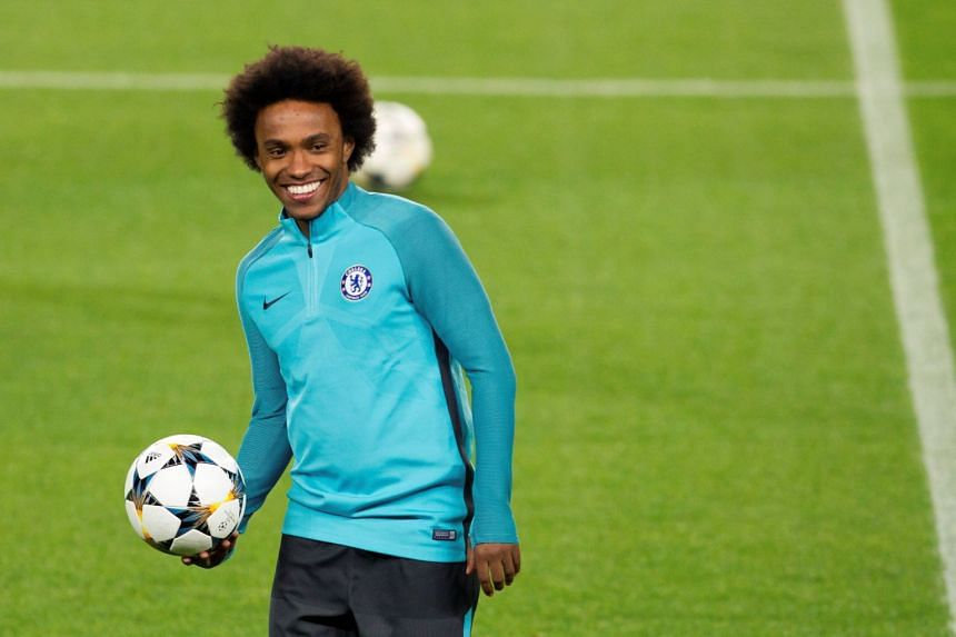 Chelsea midfielder Willian has scored five times in the last five matches in all competitions.