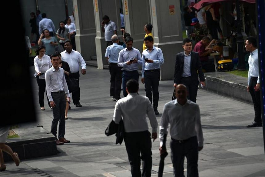 Singaporeans and permanent residents made up a slightly bigger proportion of the workforce as of December last year, at 67.2 per cent, up from 66.4 per cent a year earlier.