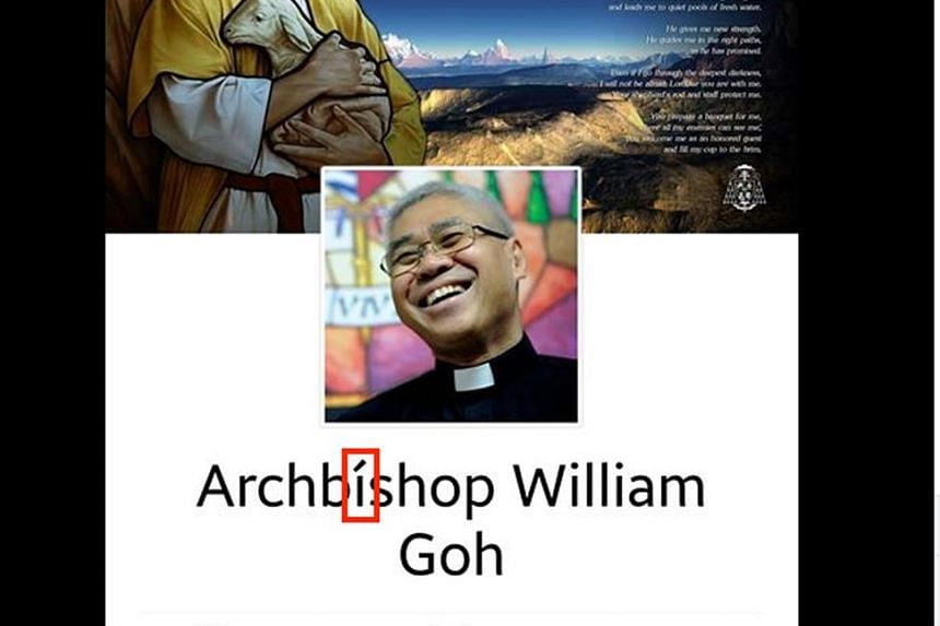 Mr Andre Ahchak (above) said members of the Catholic community asked if the Facebook page with the Archbishop's name (left) was real.