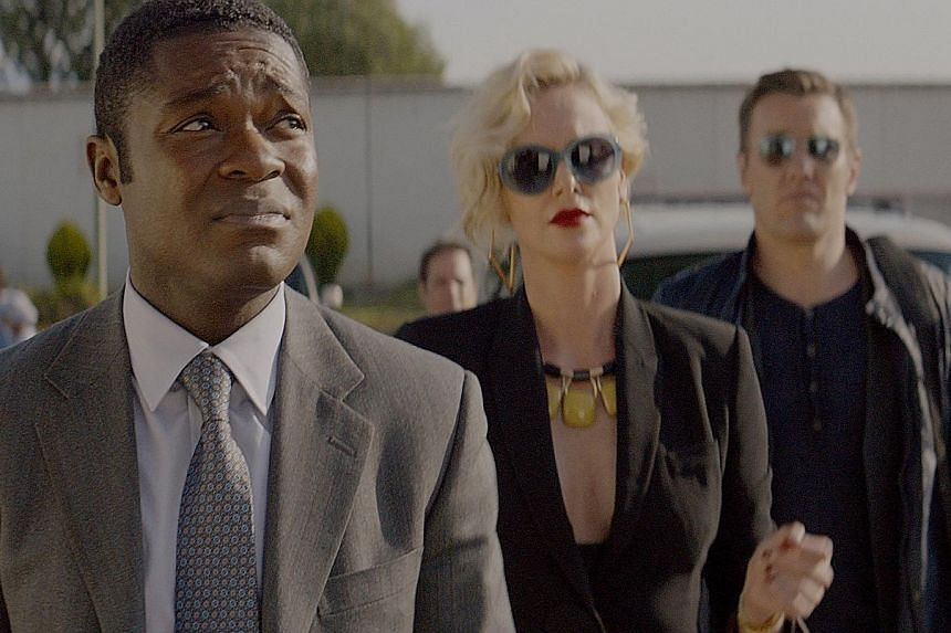 (From left) David Oyelowo, Charlize Theron and Joel Edgerton star in Gringo.