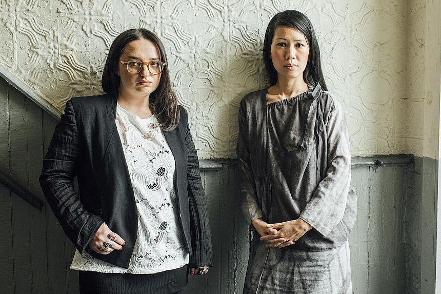 Four of the five women accusing Mr Richard Meier (right) of sexual harassment are former employees of his architecture firm, including (from left) Ms Alexis Zamlich and Ms Stella Lee.