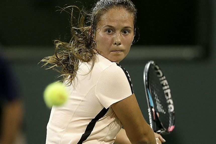 World No. 19 Daria Kasatkina upset No. 2 Caroline Wozniacki 6-4, 7-5 in the Indian Wells fourth round.