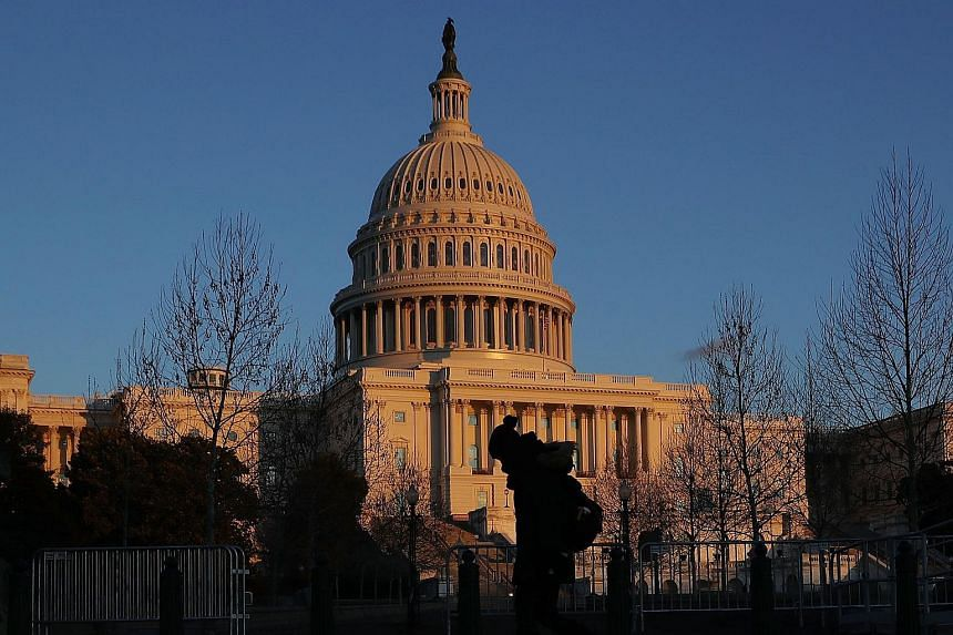The US Capitol building in Washington, DC, seen on Jan 30, 2018.