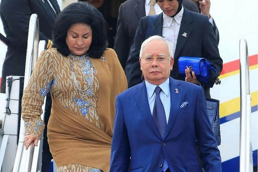 Prime Minister Najib Razak and his wife Rosmah Mansor arriving in Manila last year. They confronted sensitive topics about them in a closed-door session with a hand-picked audience last month, but the scandal around 1Malaysia Development Berhad was l