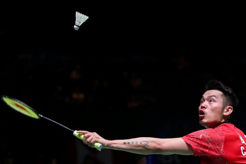 China's Lin Dan at the men's singles first round of the Yonex All England Open Badminton Championships on March 14, 2018.