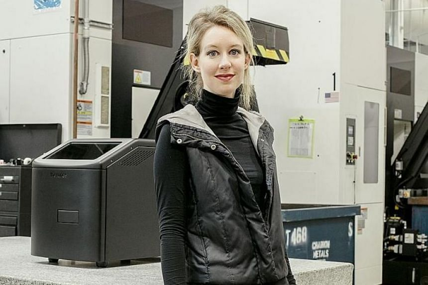 """The chief executive of Silicon Valley start-up Theranos, 34-year-old Elizabeth Holmes, was charged with an """"elaborate, years-long fraud"""" over its blood-testing technology."""