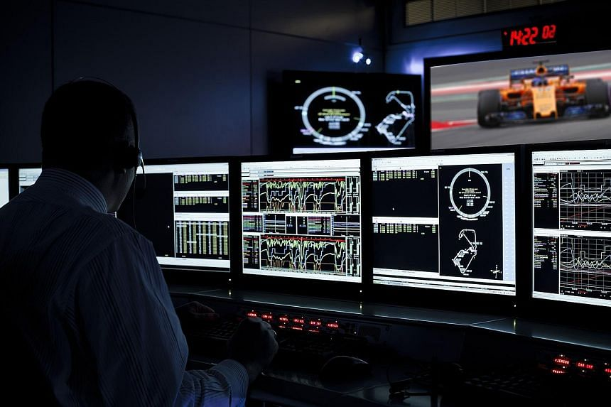 McLaren's condition-monitoring suite for F1 race cars. SMRT and McLaren engineers are aiming to adapt race car condition-monitoring technology to assess MRT performance.