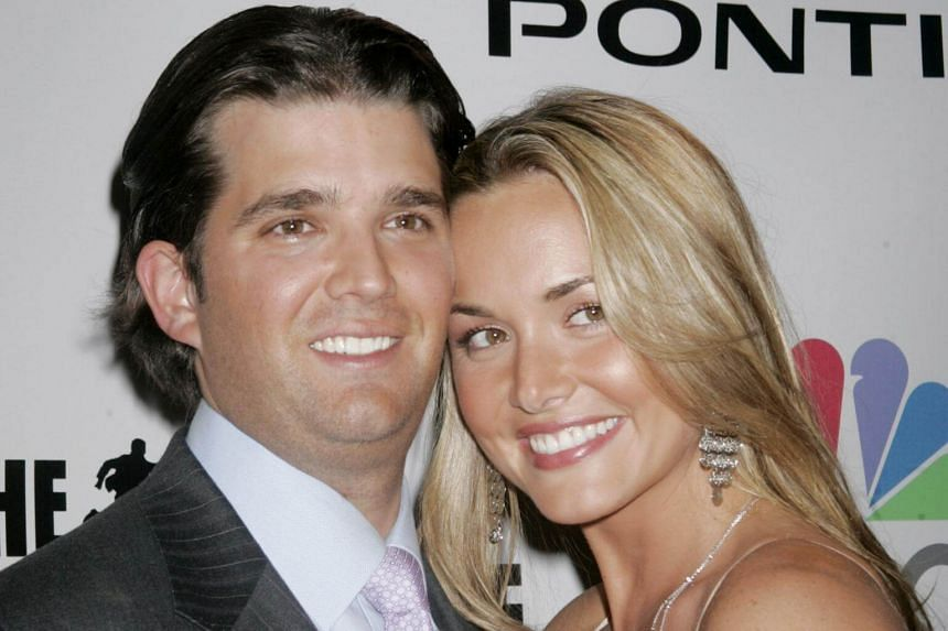 A file photo of Donald Trump Jr with his wife Vanessa at a party following the live telecast of The Apprentice season five finale, on June 5, 2006.