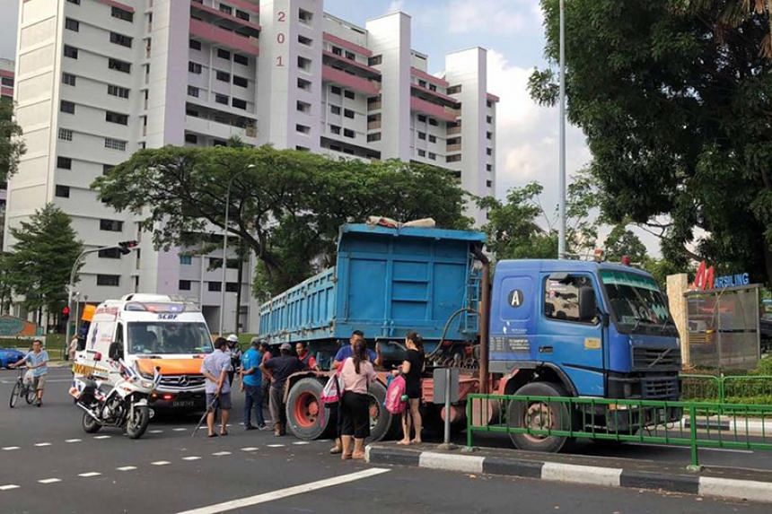 It is understood that the driver was making a left turn when the traffic lights turned green, though pedestrians were also able to cross at the same time.