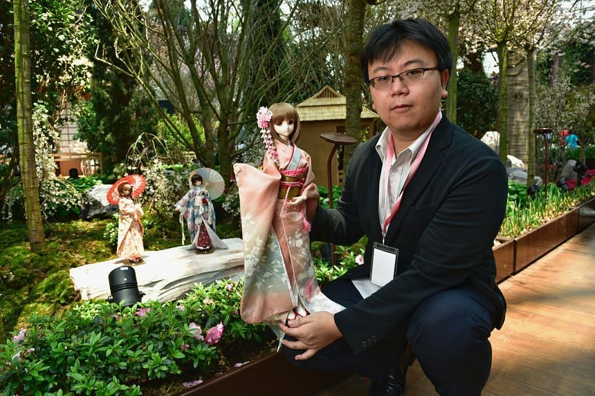 Six of the 10 dolls on display belong to speciality doll collector Ethan Ng.