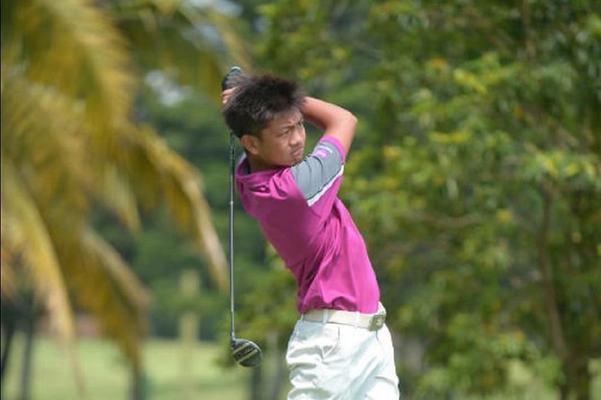 St Patrick's School student Nicholas Jordan Sea, 14, fired a gross 79 to take the boys' lead during the first leg of the Community Youth Golf League at Orchid Country Club on March 16, 2018.