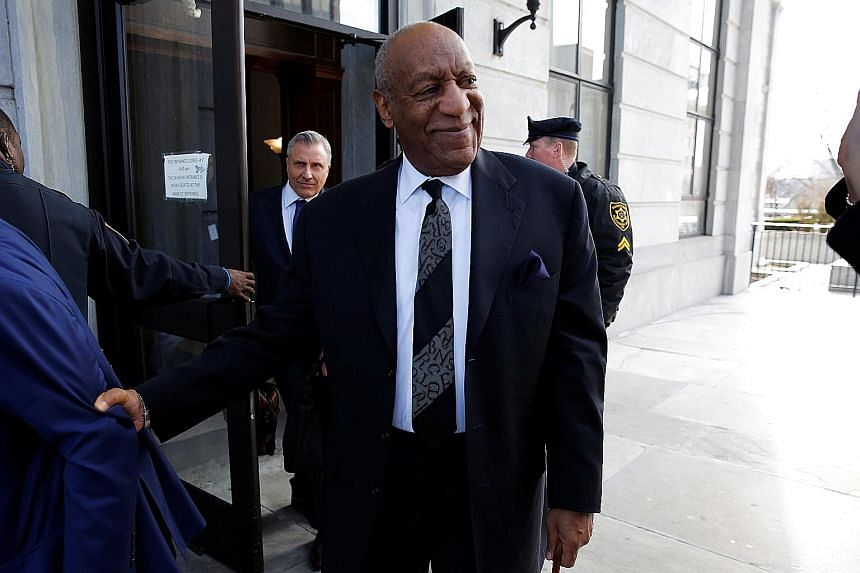 Bill Cosby leaving a hearing earlier this month. A judge has ruled that five previous accusers can be called as witnesses in an effort to establish a pattern of the comedian's alleged predatory behaviour.