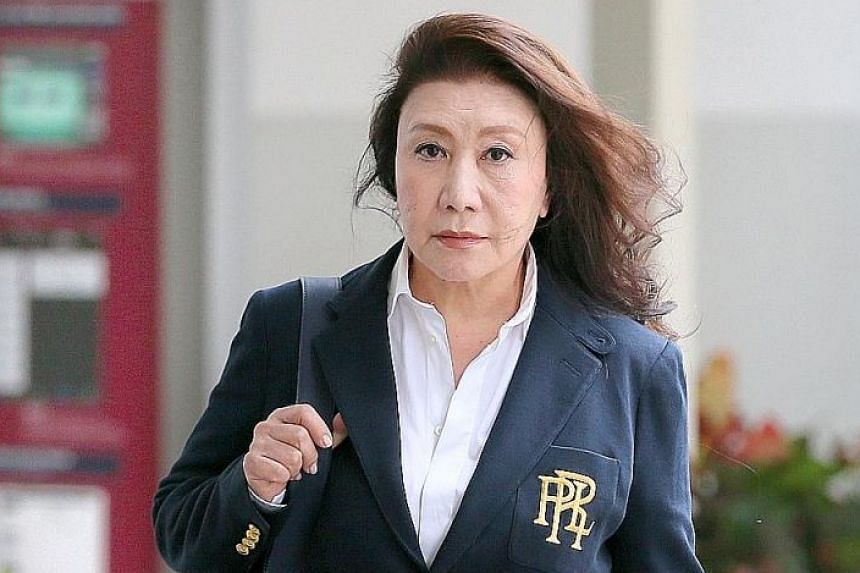 Shi Ka Yee at the State Courts yesterday. She was in court earlier this month to face two new charges, including one count of drink driving. She has six other older charges against her.