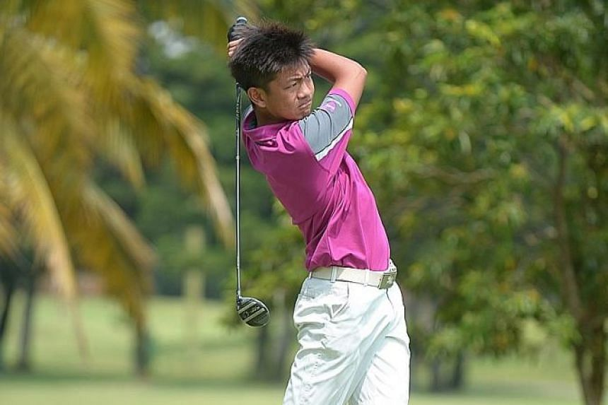 Nicholas Jordan Sea, 14, of St Patrick's School is glad that the Youth Golf League gives him more opportunities to play practice rounds. He is hoping it will help him in next month's Schools Nationals.