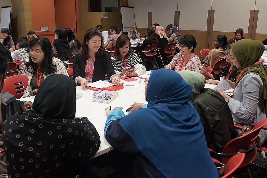 Participants at DAS' sixth Pre-school Seminar at the Lifelong Learning Institute yesterday. One of DAS' key tenets is early intervention, which will equip children with strategies before they start to fail.