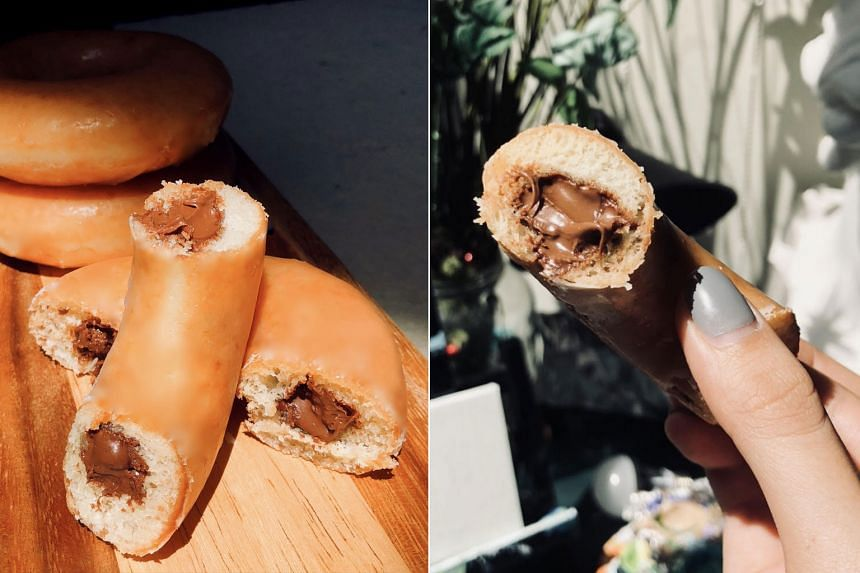The Nutella doughnuts are limited edition and sold on a first come, first served basis.