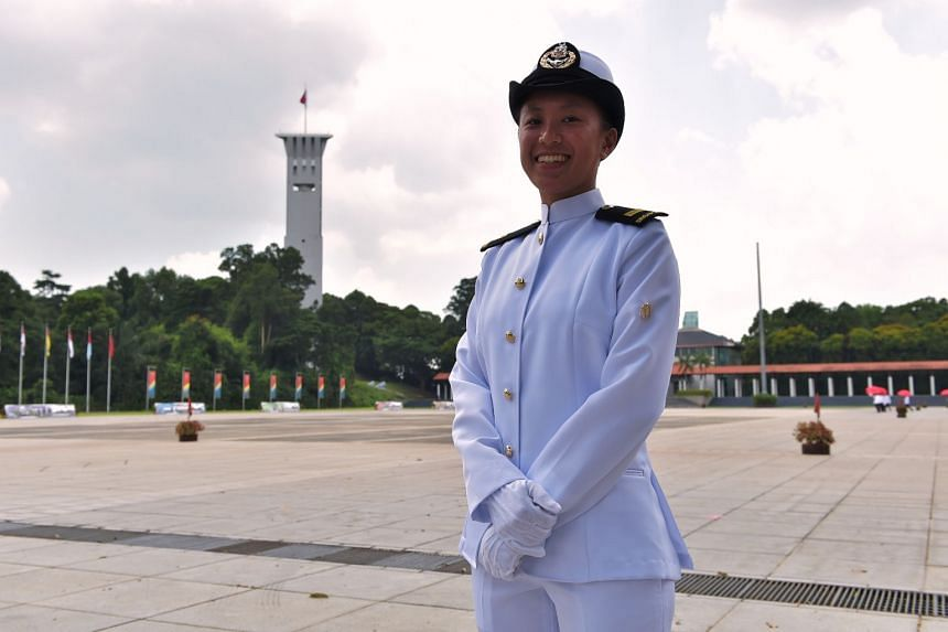 Lieutenant Teh May Yong, 25, was commissioned as a naval officer on March 17, 2018.