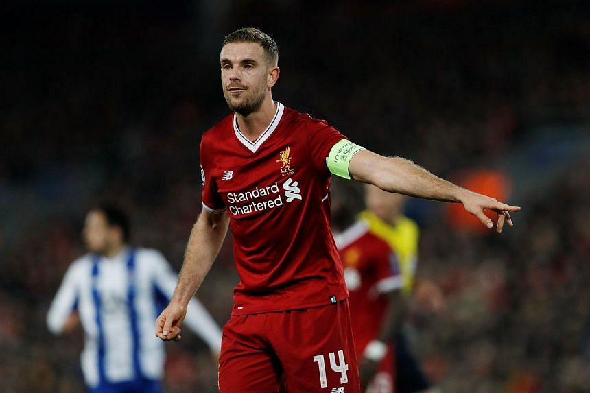 """Jordan Henderson (pictured) is our captain and he is a perfect captain,"" said Liverpool manager Jurgen Klopp in January."