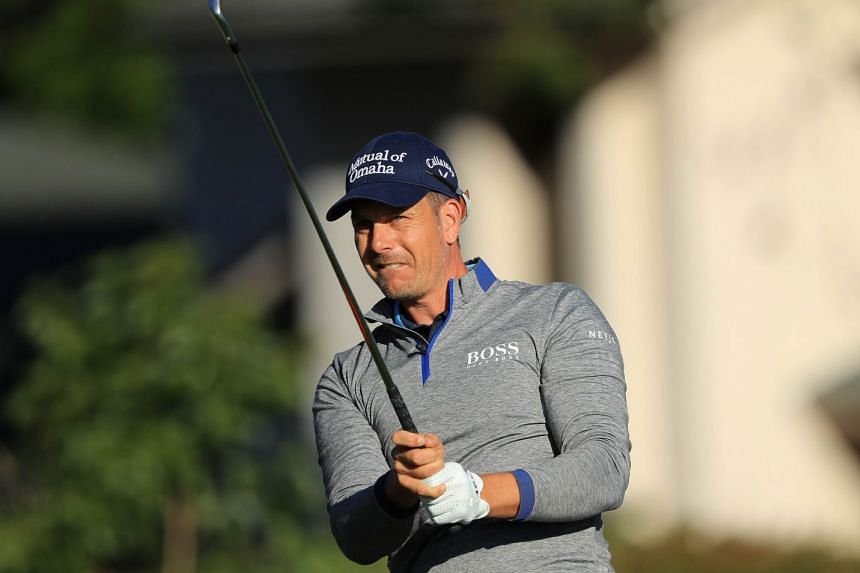 Stenson plays his shot from the 13th tee during the second round at the Arnold Palmer Invitational.