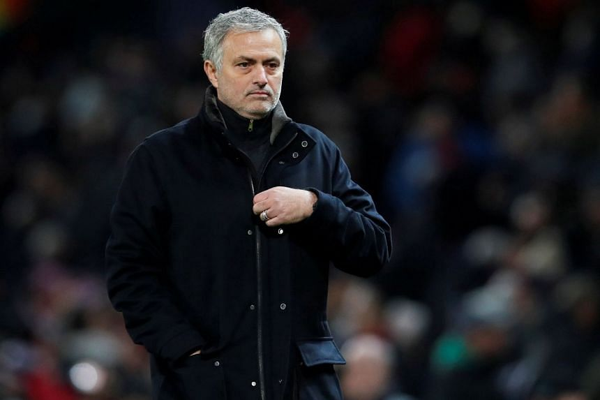 Manchester United manager Jose Mourinho during the  Champions League match against Sevilla on March 13, 2018.