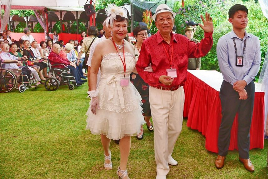 Madam Tay Mui Eng and Mr Bian Sin Teck have been married for 52 years.