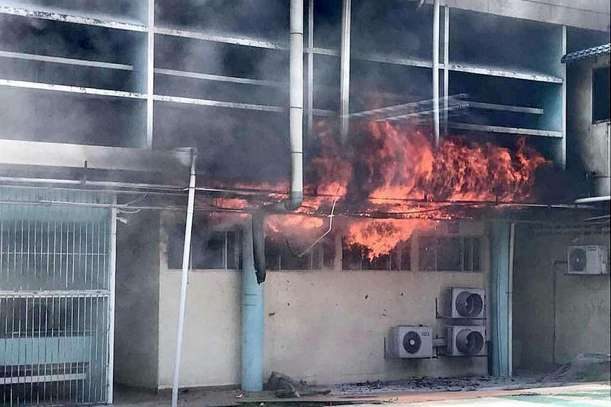 Firefighters put out the blaze, which broke out in a storage room of the National Institute of Forensic Medicine, before it was able to spread. No casualties were reported.