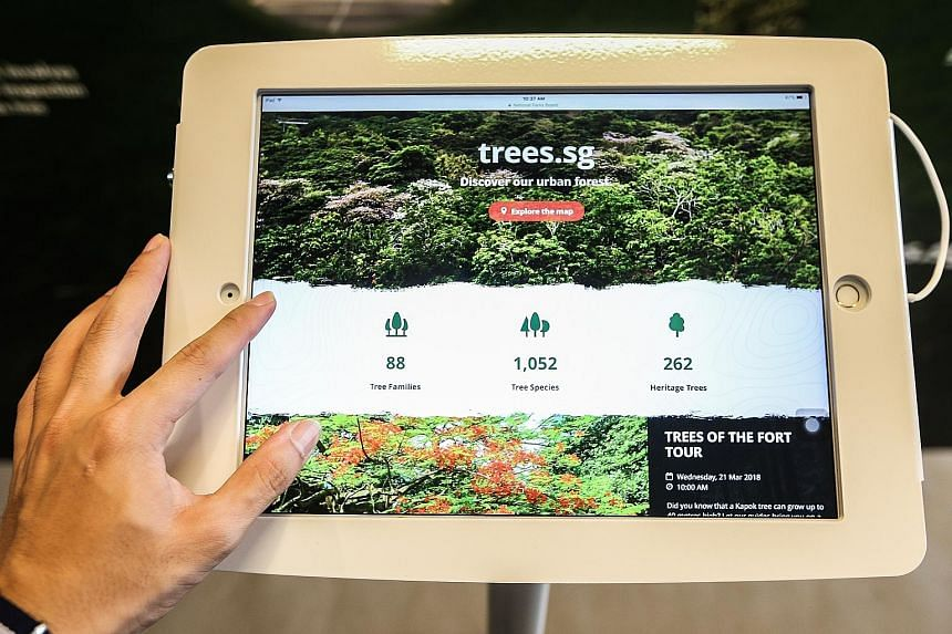 NParks bills its online map as the most extensive tree map in Asia. It hopes to get users excited about the environment.