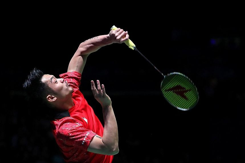 """China's Lin Dan in action during his All England quarter-final against Lee Chong Wei. He paid tribute to his longtime rival by saying that the Malaysian is a """"great competitor"""". Lin prevailed 21-16, 21-17 in Birmingham."""