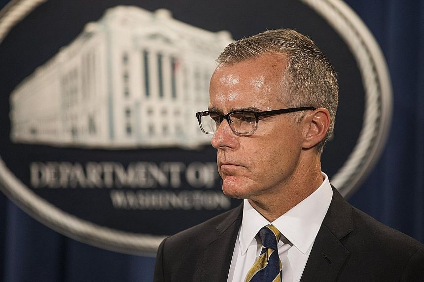 US Attorney-General Jeff Sessions said he felt justified in firing Mr Andrew McCabe (above) after the Justice Department's internal watchdog found he leaked information to reporters and misled investigators about his actions. But Mr McCabe denied tho