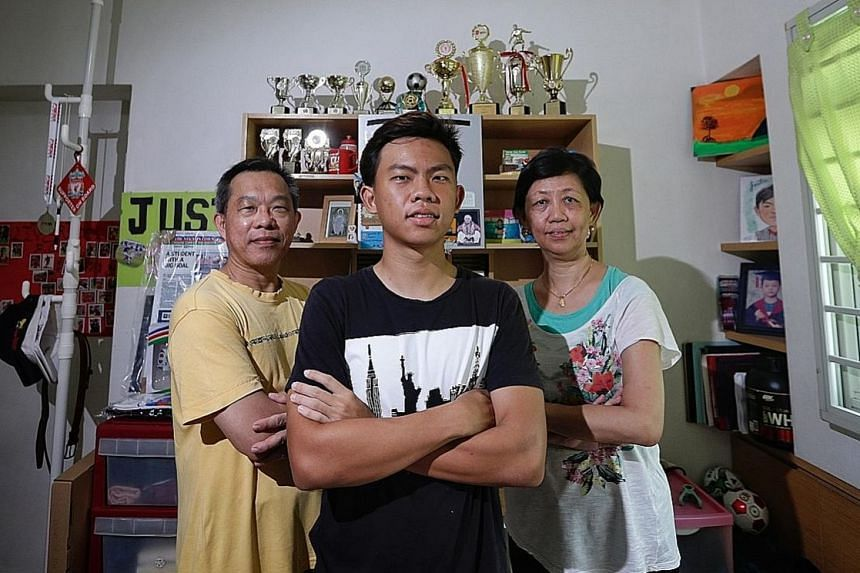 Justin Hui's decision to pursue a career as a professional footballer has raised some eyebrows, especially since his mother, Lillian, is a teacher. But he has an ardent fan in his football-mad father, Patrick.